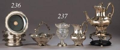 Four Dutch silver wine-coaster