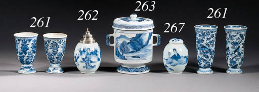 A blue and white bowl, coffee-