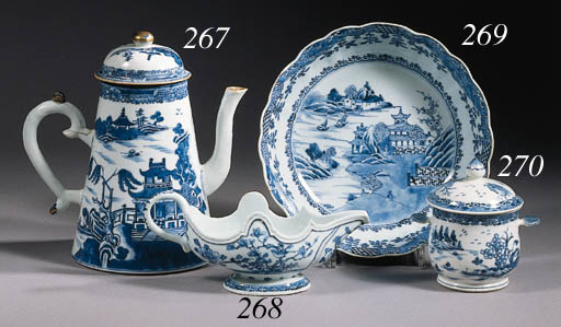 An Imari and a blue and white
