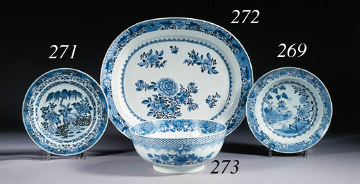 Two sets of plates and a dish