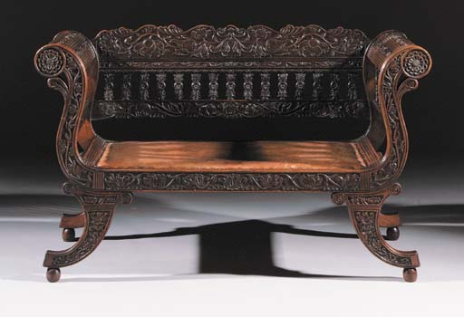 A Dutch colonial hardwood bench