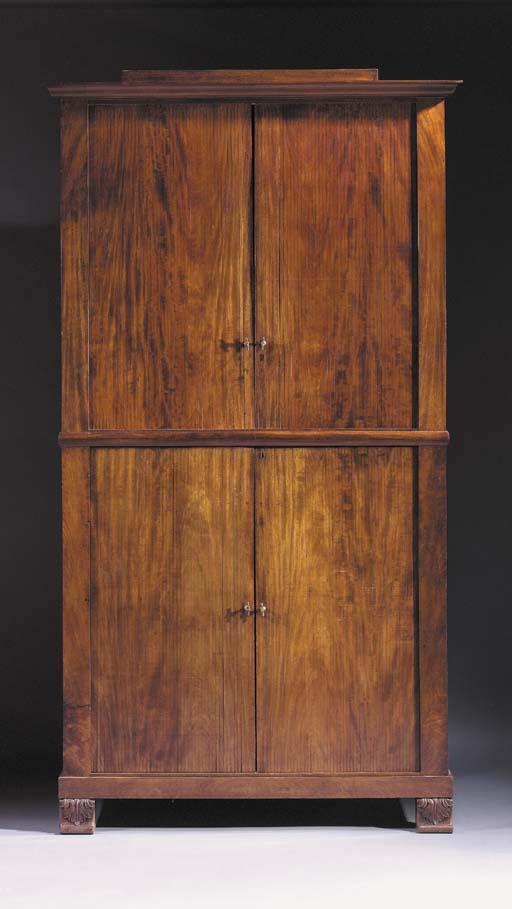A North European mahogany cupboard