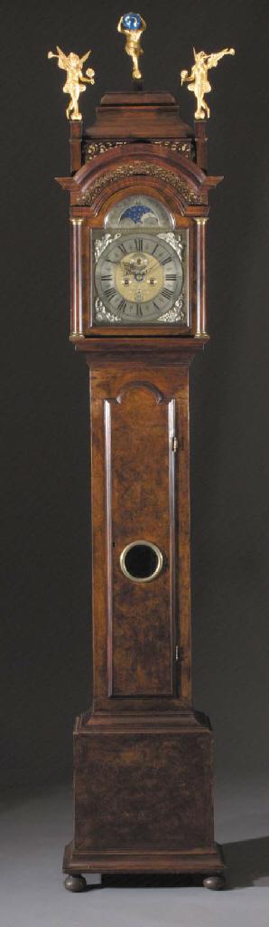 A Dutch mahogany longcase clock