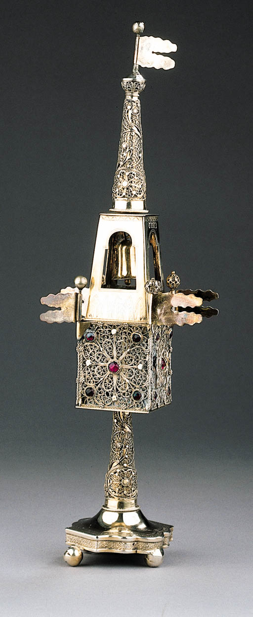 A FINE SILVER, PARCEL-GILT AND