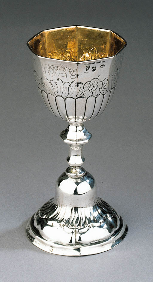 A FINE SILVER KIDDUSH CUP FOR