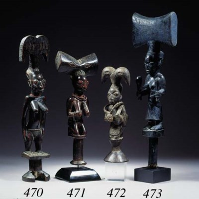 A FINE YORUBA STAFF FOR SHANGO