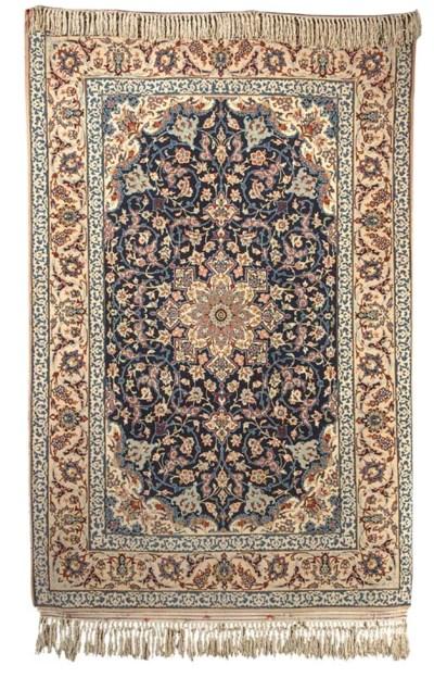 A very fine kurk Isfahan rug