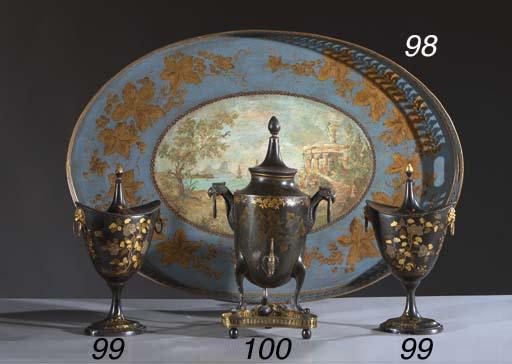A Dutch parcel-gilt and japann