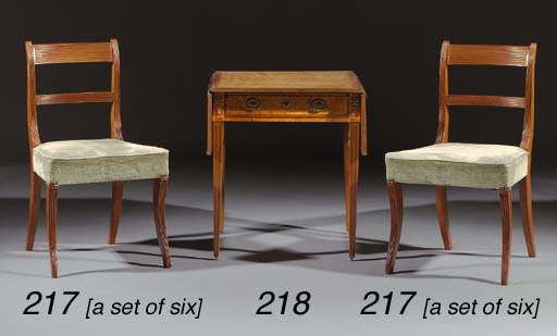 A set of six mahogany dining-c