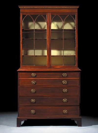 An Edwardian mahogany bureau-b