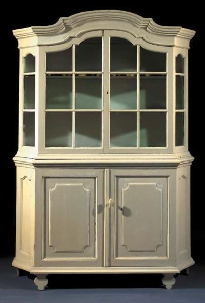 A white-painted display cabine