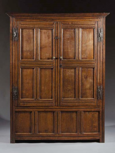 An English oak wardrobe