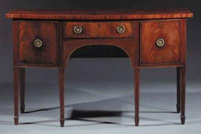 An English mahogany sideboard