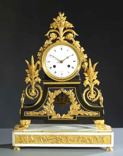 A Directoire ormolu, patinated