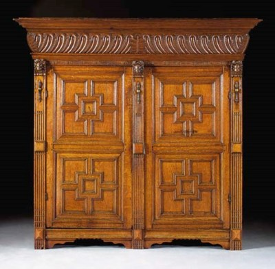 A Dutch oak cupboard