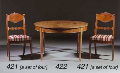 Four Russian mahogany chairs