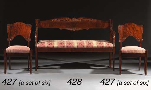 A set of six Russian mahogany