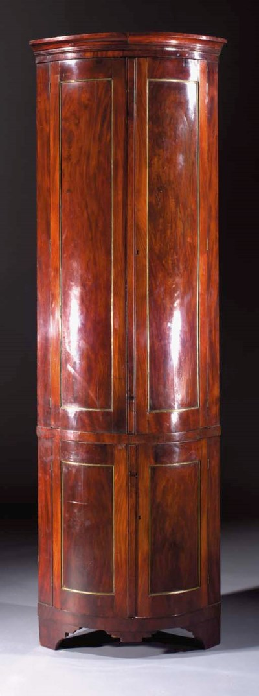 A Dutch mahogany corner cabine
