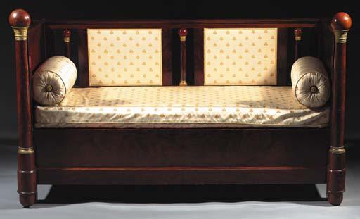 A mahogany canape