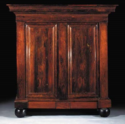 A Dutch rosewood cupboard