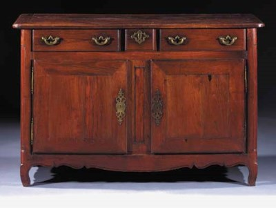 A French provincial walnut dre