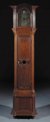 A Liege oak longcase clock