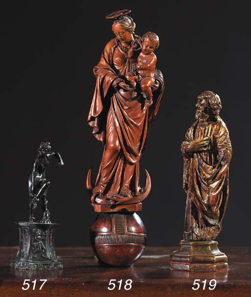 A carved wooden figure of the