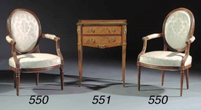A set of three Louis XVI beech