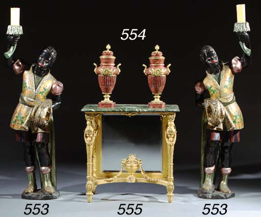A giltwood console-table