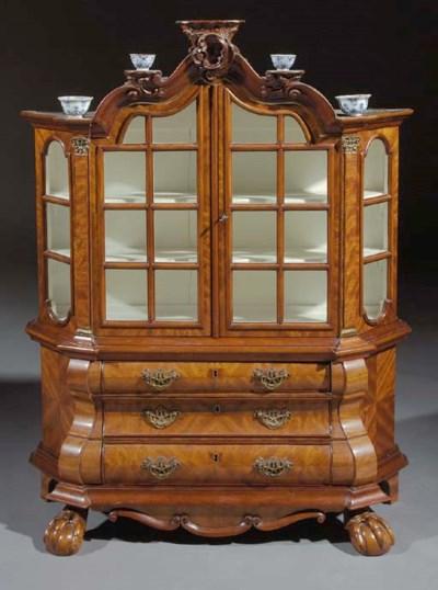 A Dutch mahogany miniature dis