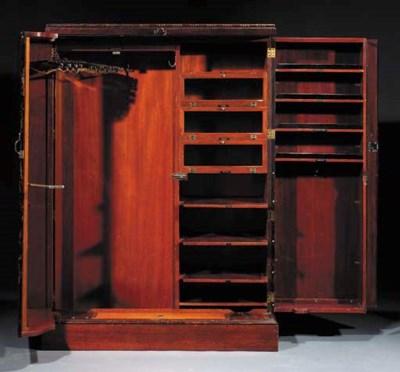 An English mahogany wardrobe