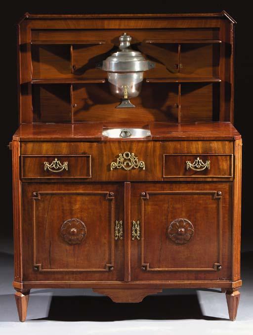 A Dutch mahogany 'klapbuffet'