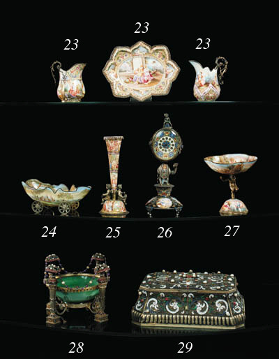 A Viennese silver-gilt, bead-p
