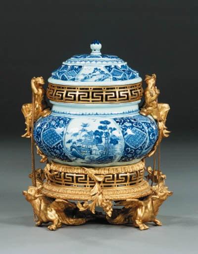 A French ormolu-mounted blue a