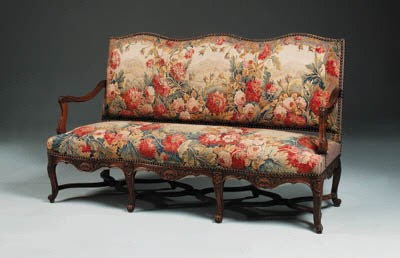 A French Aubusson upholstered