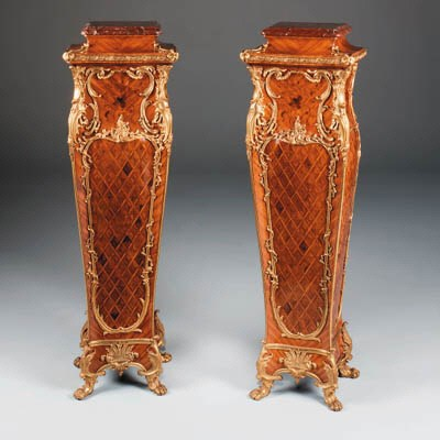 A pair  of French ormolu-mount