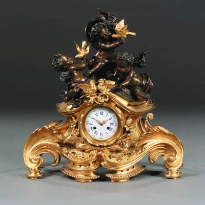 A Napoleon III gilt- and patin