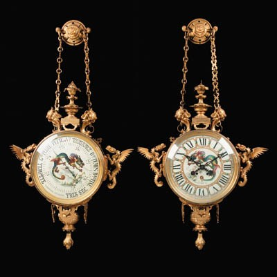A French ormolu wall clock and