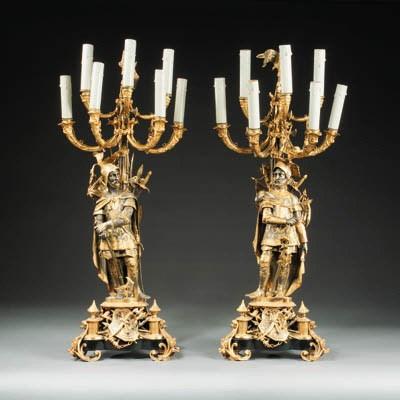 A pair of Napoleon III gilt- a