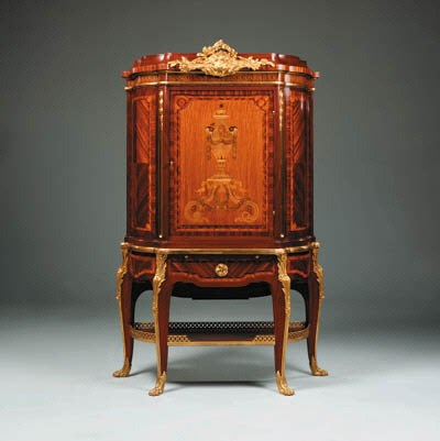 A French ormolu-mounted parque