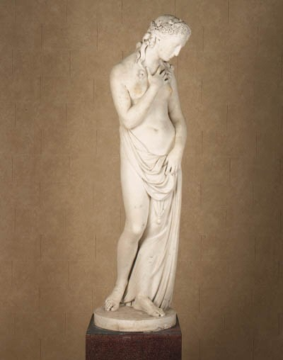 An English white marble figure