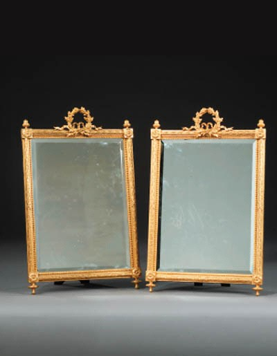 A pair of French gilt-bronze a