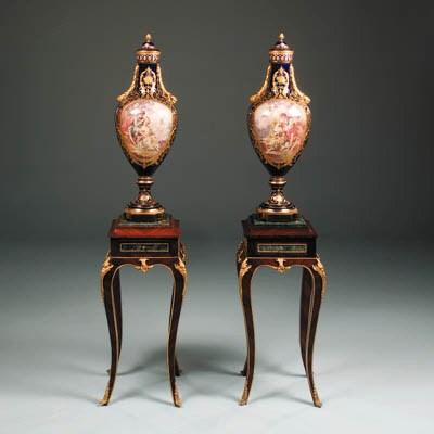 A pair of ormolu-mounted parce