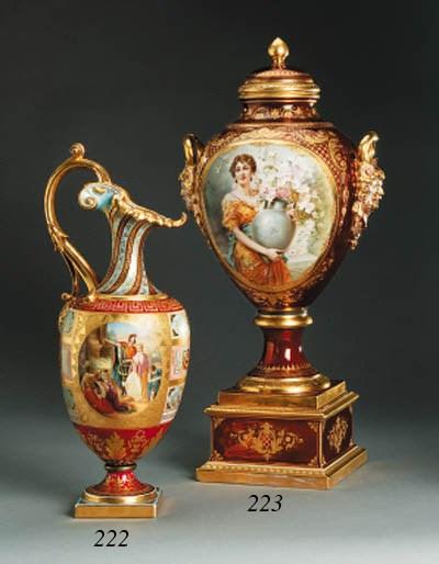 A Viennese parcel-gilt Burgund