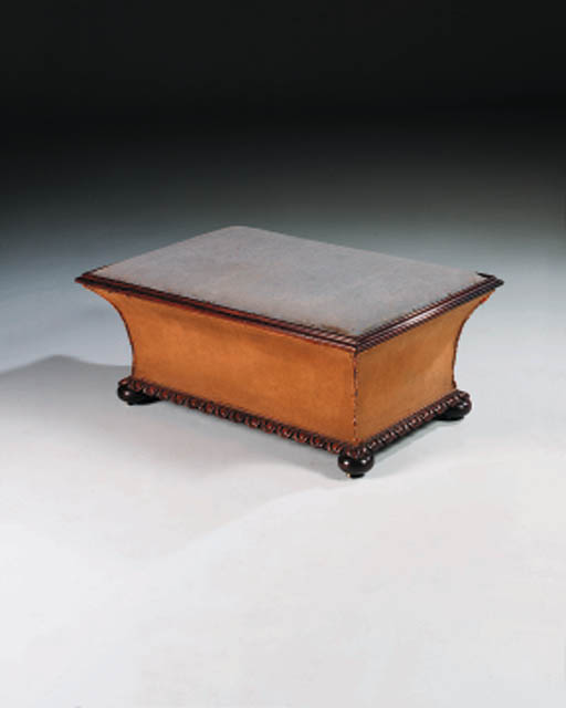 AN EARLY VICTORIAN ROSEWOOD OT
