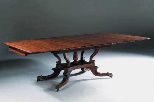 A REGENCY MAHOGANY EXTENDING D