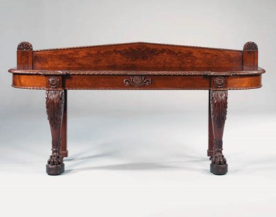 AN IRISH GEORGE IV MAHOGANY SI