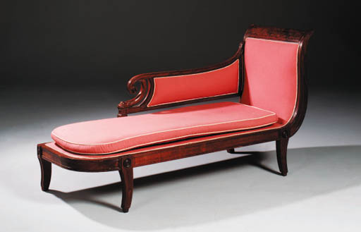 A GEORGE IV MAHOGANY DAY BED