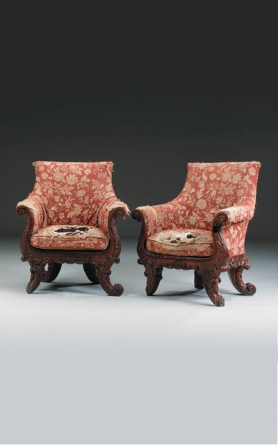 A PAIR OF GEORGE IV SOLID ROSE