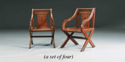 A SET OF FOUR MID-VICTORIAN OA